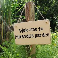 garden sign. personalised home and garden sign i