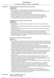 Marketing Communications Manager Resume Samples Velvet Jobs