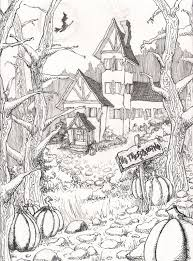 Halloween Coloring Pages Colouring Adult Detailed Advanced Printable