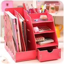 Wholesale Magazine Holders Creative DIY Wooden Desktop File Magazine Holder Book Shelf Large 50