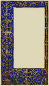 Ornate blue and gold full page border