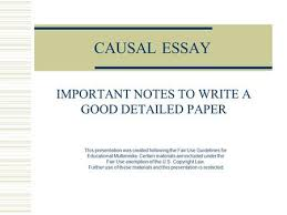 "why it is important for you and the publication what is ""copy  causal essay important notes to write a good detailed paper this presentation was created following the"