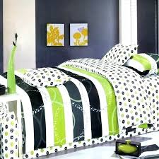 lime green duvet cover black dot stripe teen bedding king sets olive queen