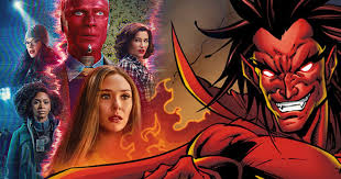 Marvel has unveiled a new clip from wandavision episode 7, revealing that wanda's commitment to this sitcom bit extends to even the mockumentary era. Is Mephisto Hiding In The New Wandavision Poster