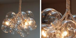 close up of jean pelle s work adelman s bubble chandelier