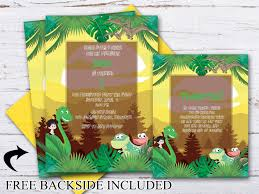 Dinosaur Birthday Invitation Custom Dinosaur Birthday Invitation Thank You Cards Dinosaur