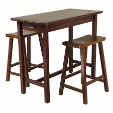 Amazon.com   Winsome Kitchen Island Table With 2 Drawers And Saddle Stools,  3 Piece   Kitchen Islands U0026 Carts