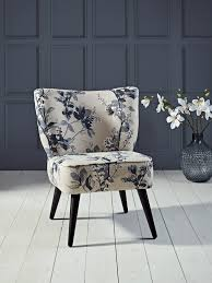 Blue Patterned Chair Delectable Laverton Chair Blue Floral