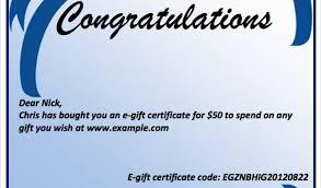 Congratulation Certificate Congratulations Gift Certificate Template 9 Congratulation