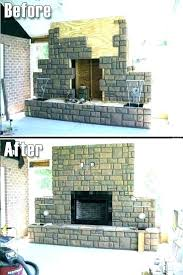 faux rock fireplace wall fake this looks undeniably realistic painting faux rock fireplace