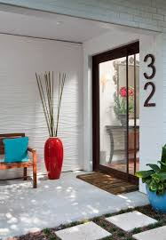 decorating front porch with tall vase