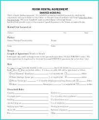 House Rules For Roommates Template A Roommate Agreement Form Plan Printable Room Rental