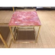 Image Bekant Corner Aquaimperialin Rose Quartz And Wild Agate Corner Table Top