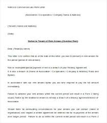 Tenant Late Rent Notice Letter Template In Payment