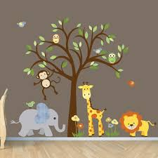 neutral wall decal safari wall decal tree wall decal nursery wall