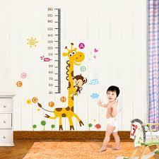 fox giraffe height wall stickers kids growth chart height measure stickers monkey tree decals ay867 by rainbow fox for baby in australia