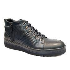 Мужские синие <b>высокие</b> кожаные кроссовки Luca Guerrini 9233 ...