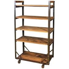 rolling shoe cart rustic wood and steel storage rack for diy plans id f