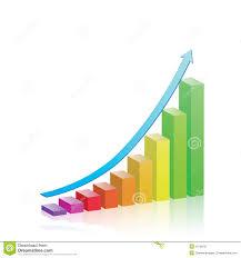 Chart Progress Growth Progress Bar Chart Stock Vector Illustration Of