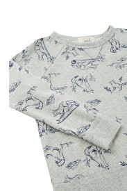 Ivan Wolf Print Sweatshirt | Peek Kids