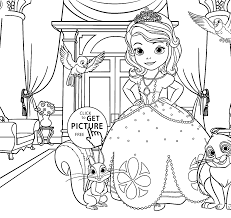 Small Picture Coloring Pages For Kids Printable Free Princess Sofia Coloring