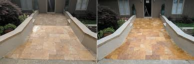 travertine outdoor patio cleaning sealing cary