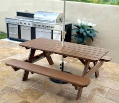 recycled teak picnic style dining table folding round