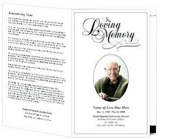 Free Funeral Program Template 23224790006 Free Funeral