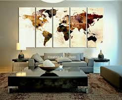 map of decor diy wall art creative living room ideas diy map room decor