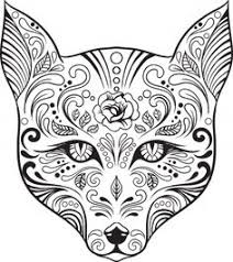 Small Picture Day of the Dead coloring pages Enjoy Coloring Abstract