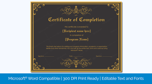 Microsoft Award Templates Printable Certificate Of Completion Templates