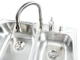 stainless steel drop in kitchen sink more views kraus 18 gauge double basin drop in stainless