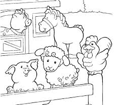 Barnyard Coloring Pages Farm 2 Free Printable Animal Colouring