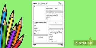 Meet The Teacher Letter Templates Meet The Teacher Template Letter