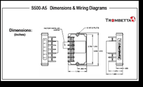 trombetta s s500 a5 a6 and a7 are electronic control modules for dimensions wiring diagrams