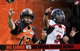 Livestream Ppv Cfl Ottawa Redblacks Bc Lions Friday
