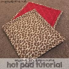 pot holders tutorial sewing beginners hot pad footprints hand
