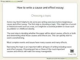 a cause and effect essay outline of a cause and effect essay  a