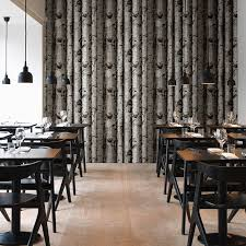 HaokHome Modern Birch Tree Wallpaper Lt.Grey w/Green leaves Textured Woods  Rolls Living room Bedroom Home Wall Decoration-in Wallpapers from Home ...