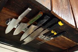 DIY Under-Cabinet Knife Rack : great way to save on counter space!