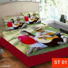 bed sheets printed. Beautiful Printed Deluxe Digital Printed Velvet Double Bedsheets For Bed Sheets