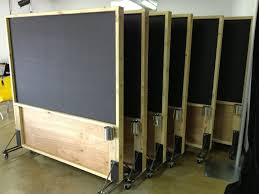 office panels dividers. Rolling Distressed Wood Magnetic Chalkboard Partitions | Porter Barn Wood. Office DividersSpace Panels Dividers