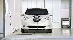 Nissan Leaf Electric Car Charging