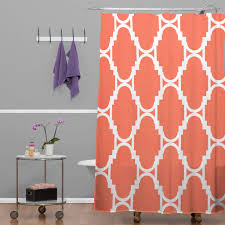 Coral Design Shower Curtain Rebecca Allen Pillow Talk Coral Shower Curtain Coral