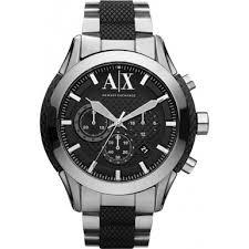 ax1214 sport armani exchange men s watch watches2u armani exchange ax1214 mens black silver chronograph sports watch