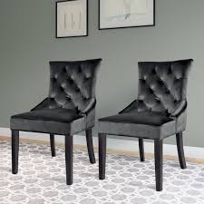 corliving antonio velvet accent chair set of 2