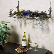 wall mounted wine glass rack. Metro 8-Bottle Wall Mounted Wine Rack Glass