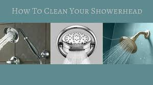 how to clean a showerhead
