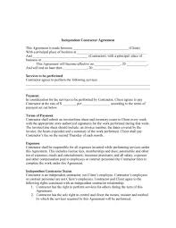 Simple Contractor Agreement Template Contract Agreement Template Templates Construction Free For