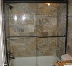 semi frameless shower doors. Semi-Frameless Tub Slider, Oil Rub Bronze Hardware, Clear Glass Semi Frameless Shower Doors